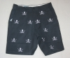 Castaway Navy Skull and Sword Shorts
