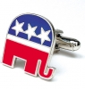 Cufflinks Republican Elephant